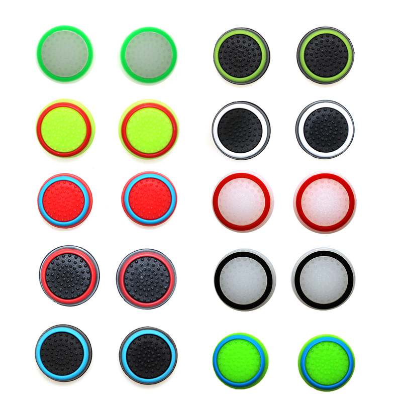 4pcs Silicone Analog Thumb Stick Grips Cover For PS4 Controller Thumbstick Caps For PS4 Pro Gamepad For Xbox One For Xbox 360(China)