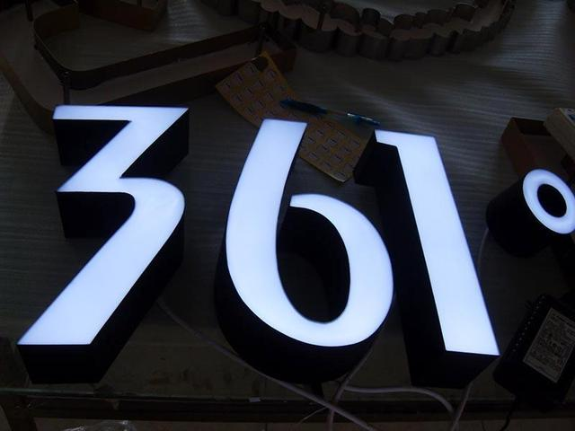 store shop company name logo signs illuminated 3d channel lettering signages