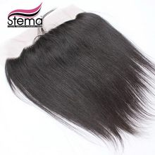 Stema Hair 4×13 Malaysia Straight  Lace Frontal Closure Free Part With Baby Hair Exstensions Natural Hair Line Ms lula Hair