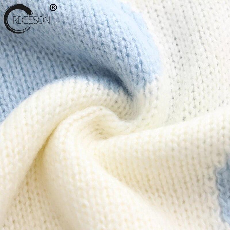 Longues Tricoter Navy À Ordeeson En De Chandails Et Pulls Marque Femmes Rayé pink Bleu Cachemire 2017 Luxe Manches Hauts Jumper Tricot D'hiver qCgBwTq