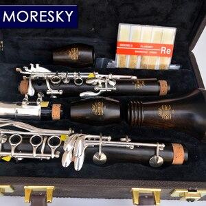 Image 4 - MORESKY Clarinet Falling Tune B Clarinet Wood ebony clarinet Tube 17 Keys Clarinet M6