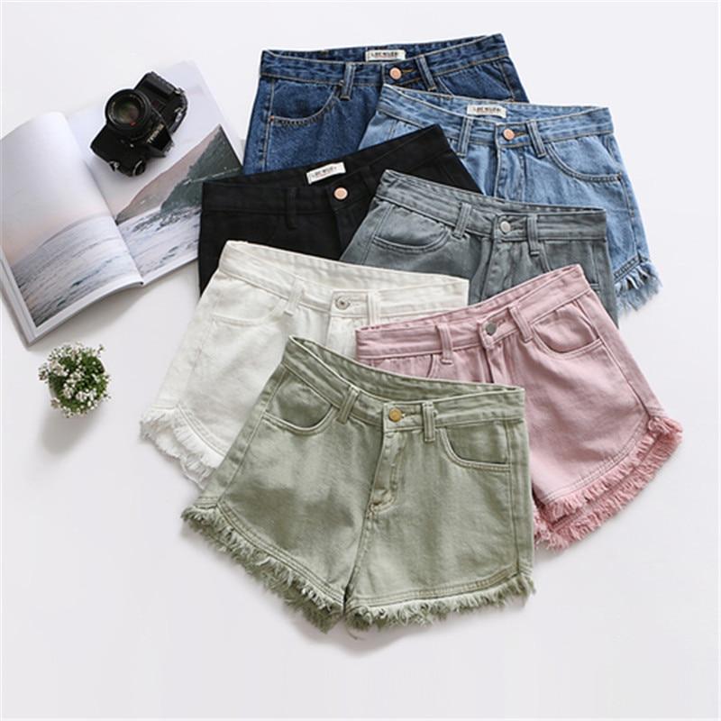 HziriP 7 Colors Tassel 2019 Denim Shorts Women Short Jeans For Women Bottoms Female High Waist Shorts Jeans Feminino Large Size