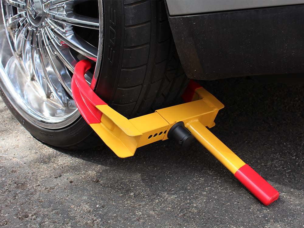 Car Truck Trailer Wheel Tyre Tire Claw Clamp Lock Parking Anti-Theft Security