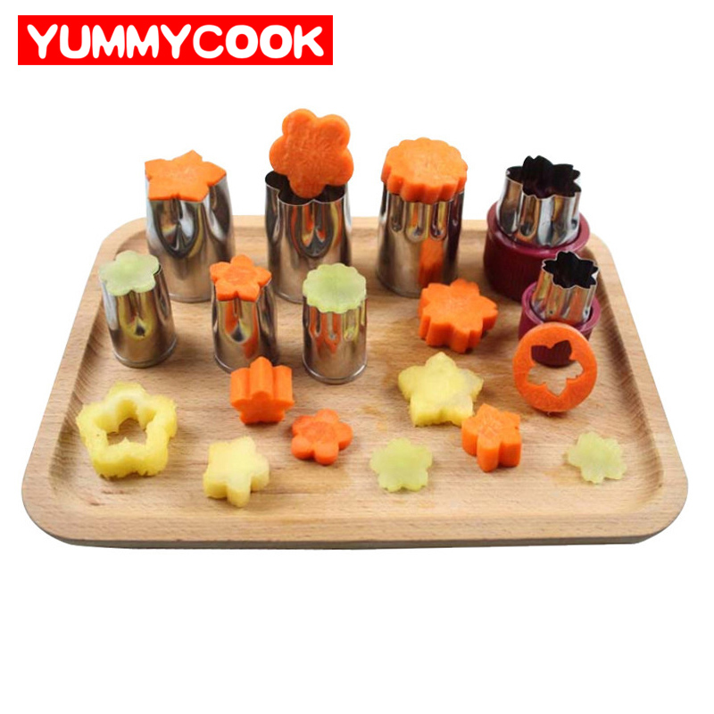 8pcs/Set Stainless Steel Puzzle Fruit Vegetable Cutter ...