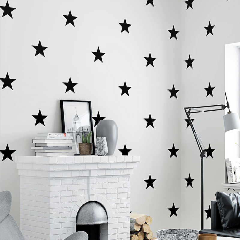 Black White Stars Wallpaper For Kids Room Modern Children