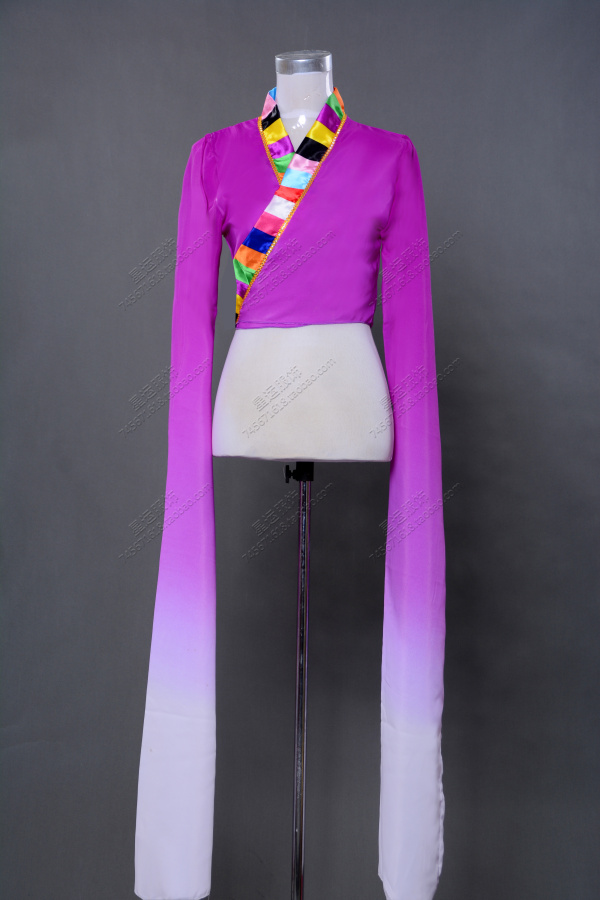 Tibetan Classical Dance Children Dance Adult Body Exercises Water Sleeve  Connected Long Sleeved Dress