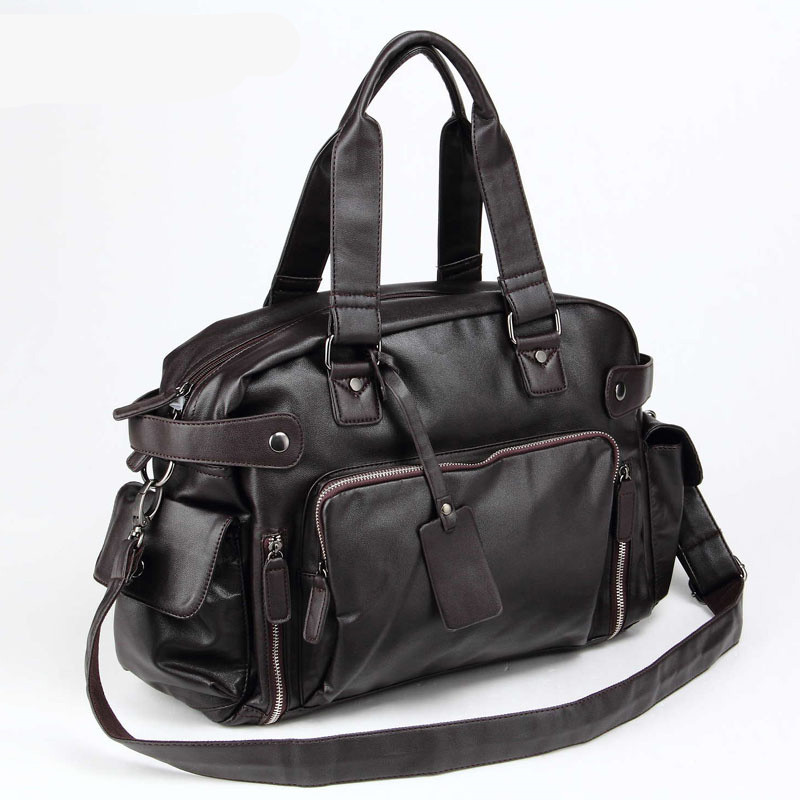 Aliexpress Com Buy Men S Leather Travel Bags With Side