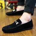 Nova Marca 2016 Gommini Condução Homens Sapatos Mocassins Barco Sapato Dos Homens De Couro Camurça Slip-on Casuais Masculinos Mocassim Masculino sapatos