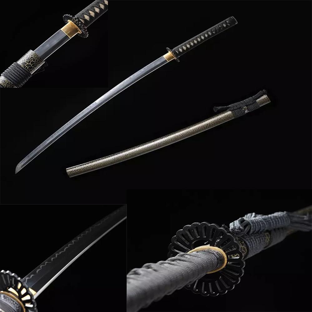 Kézzel készített casting katana japán szamuráj kard T10 - Lakberendezés