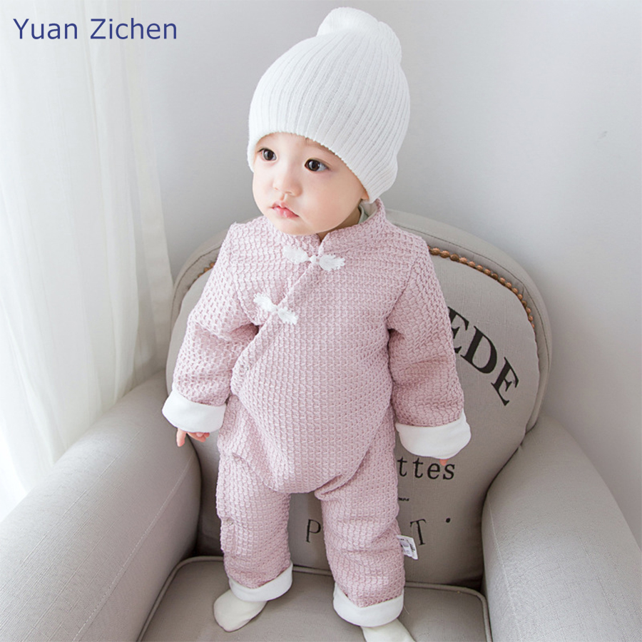 New Winter Autumn Kids Clothes Baby Rompers Cute Boy Girls Infant Girl Boy Cotton Solid Jumpers Kids Baby Outfits Clothes allkpoper autumn winter baby girl boy beanie hats toddler casual solid cotton caps