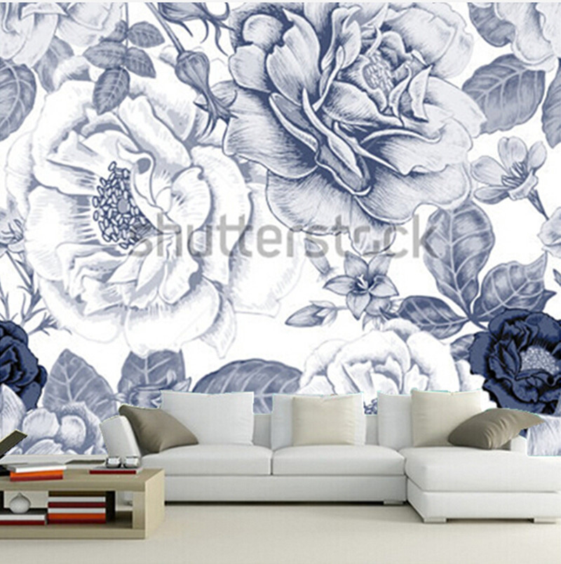 The custom 3D murals,Retro aesthetic decorative pattern murals papel de parede,living room sofa TV wall bedroom wall paper xchelda custom 3d wallpaper design buds and butterflies photo kitchen bedroom living room wall murals papel de parede