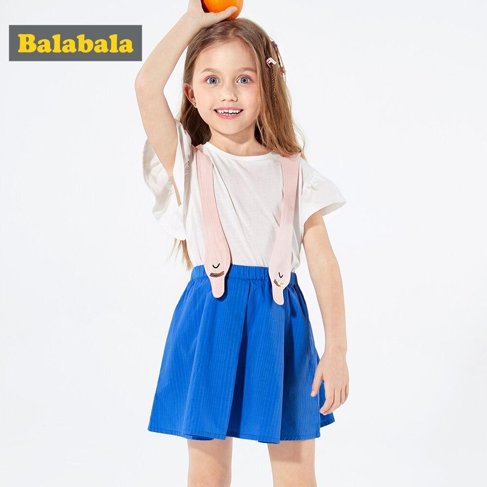 Balabala2019 mode été bébé vêtements ensemble Boutique tenues mignon fille princesse coton 2 pièces salopette robe ensemble vêtements