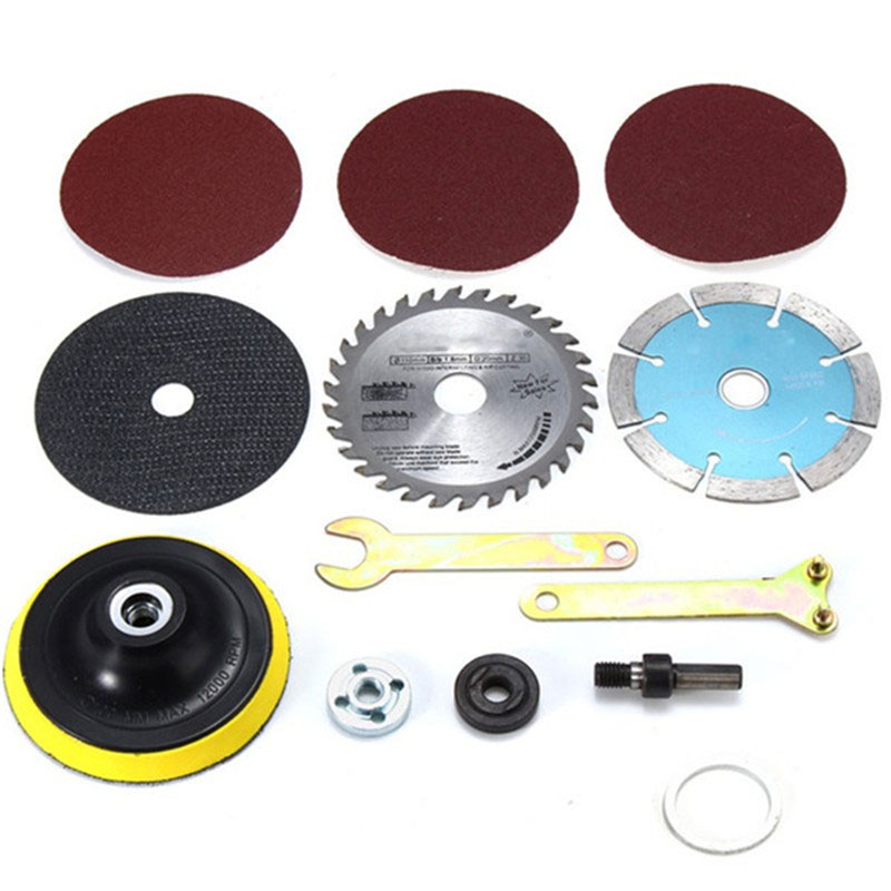1 Set  10mm Diameter Cutting Accessories For Variable Angle Grinder & Hand Drills Easy To Install.