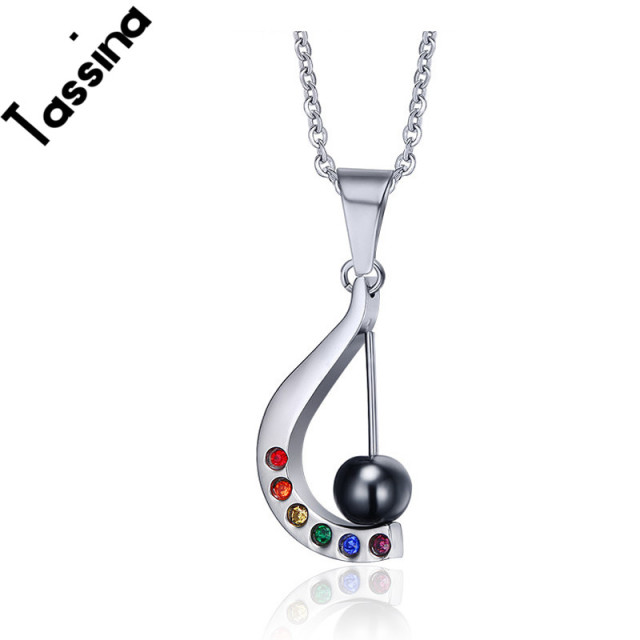 Tassina lesbian rainbow necklace harp pendant titanium steel jewelry tassina lesbian rainbow necklace harp pendant titanium steel jewelry lgbt party supplies gay pride jewelry tnf018 aloadofball