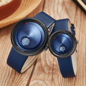 Image 1 - Basit sevgili saati Minimalist Pikap Erkek Kadın Izle Deri Kayış Pürüzsüz Kuvars Saatı Erkek Bayanlar Saat Hediyeler relogio