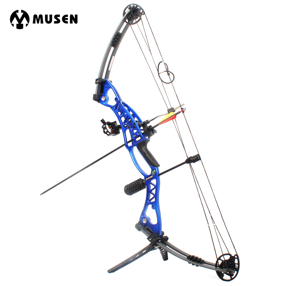 New Hunting Archery Compound Bow 40-60lbs Aluminum Alloy Slingshot Bow with Peep Sight for Adult Hunter Outdoor Hunting Shooting archery recurve bow fishing spincast reel for compound bow shooting outdoor tool fish hunting slingshot 6 8mm