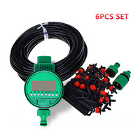 25m DIY Micro Drip Irrigation System Plant Self Automatic Watering Timer Garden Hose Kits With Adjustable Dripper Z30