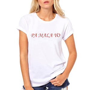 Tee Tops T-Shirts Mala Spain-Product Causal Women Print Music-Letters Novel Yo Classic
