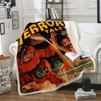 Terror Clown Blanket Stephen King It Super Soft Comfortable Velvet Plush Blanket Air Conditioning Sofa Travel Blankets Dropship