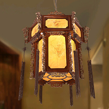Classical chinese antient lantern palace Pendant Lights Hand-carved dragon head wood lamp for bar&corridor&porch&stairs MYR017 classical chinese food industry restaurant bar cafe original wood single head pendant lights rmy 0247