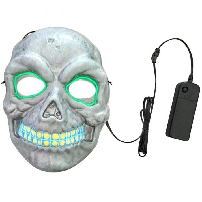 Fashion Novelty LED Adult Mask PVC EL Wire Fancy Scary Skull ...