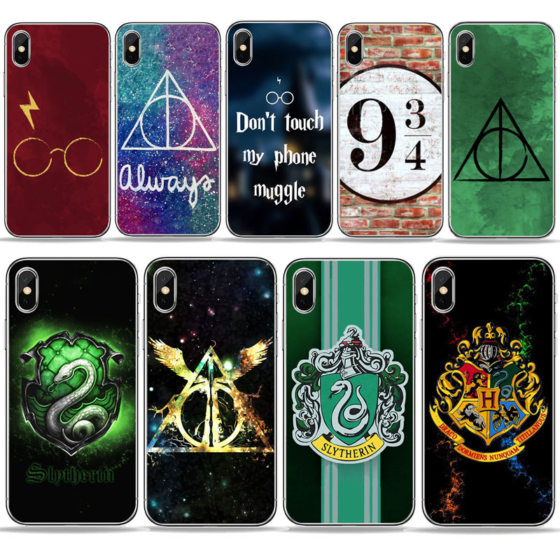 harry potter hogwarts design pattern tpu molle del silicone casse