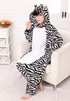 free shipping Adult Unisex Animal Lovely Zebra Onesies Pajamas Sleepsuit Sleepwearhotonesie walsonrocka