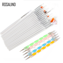 ROSALIND 20 Pcs/Set Nail Brushes Design Set Dotting Painting Drawing Nail Art Nail Tools Polish Brush Pen