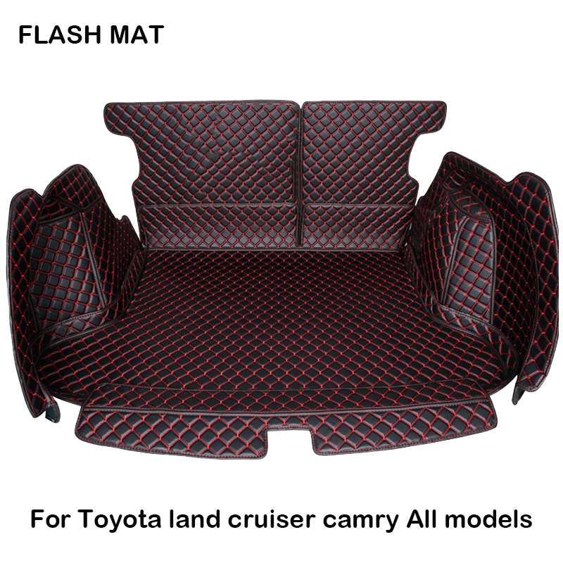 custom made Fully surrounded Car trunk mat for toyota fortuner toyota camry toyota land cruiser prado Car accessories