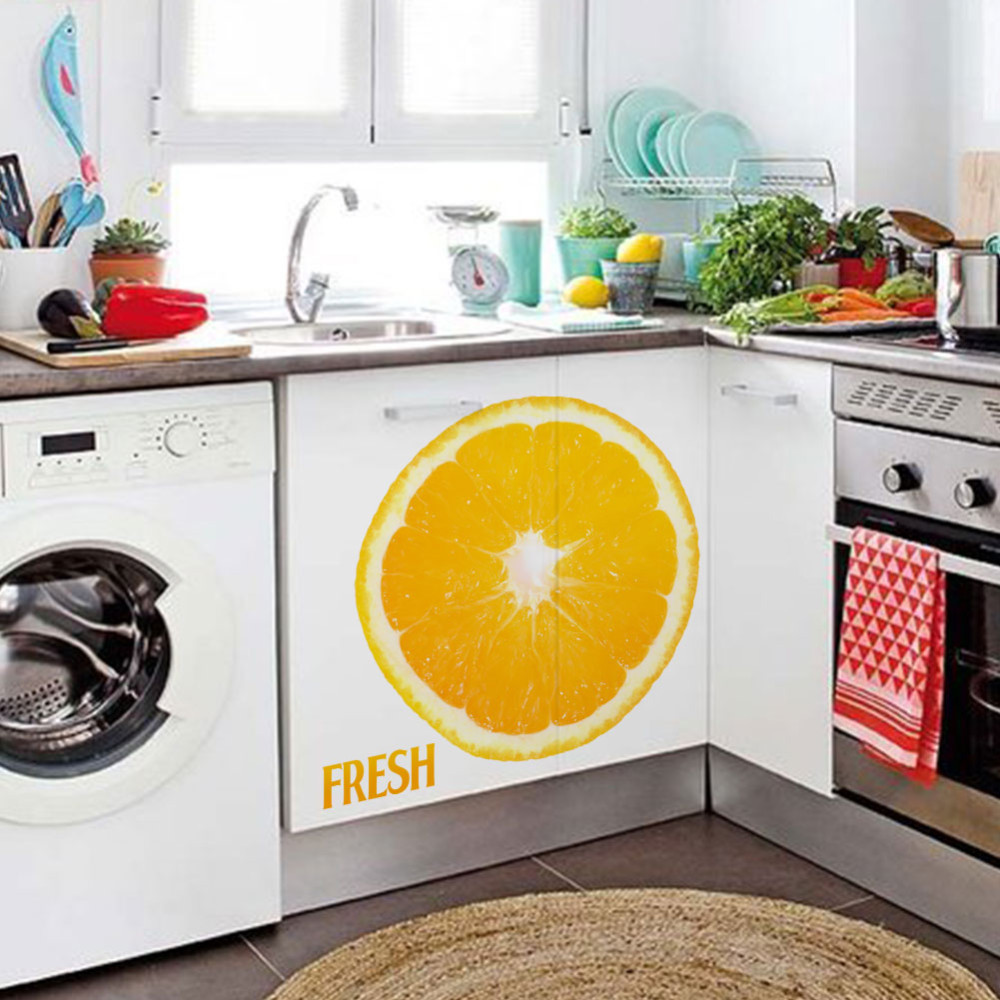 Home Kitchen Dining Wall Sticker Fresh Lemon Juice Wall Decals 1455 Mural Wallpaper Living Room Home
