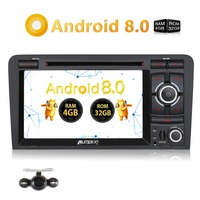 Pumpkin Car Multimedia Player 2 Din 7''Android 8.0 Car Stereo GPS Navigation Octa Core 4GB RAM Car Radio for Audi A3 2003 2011