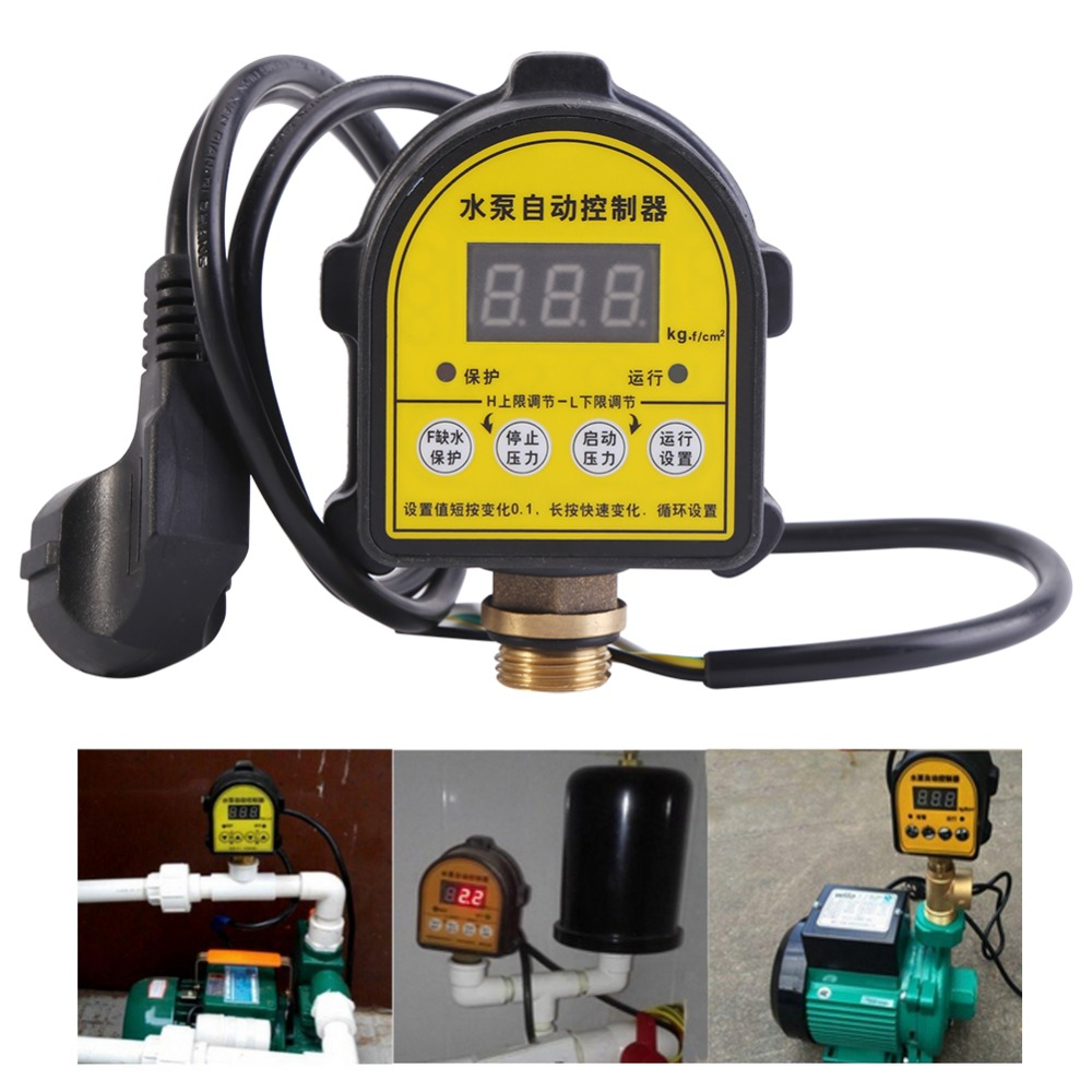 220V Digital Pump Switch Pressure Controller Automatic Digital Water Pump Pressure Controllers Intelligent ON OFF Switches Hot homeleader 7 in 1 multi use pressure cooker stainless instant pressure led pot digital electric multicooker slow rice soup fogao