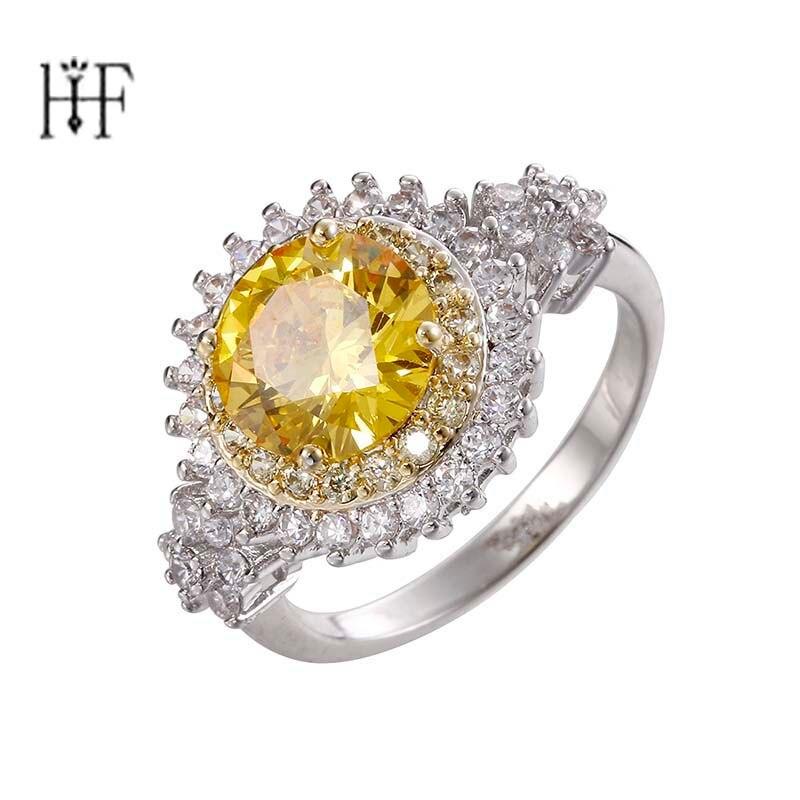 Роскошная женская круглый Шестерни палец кольцо моды розовый камень циркон кольцо из бел ...