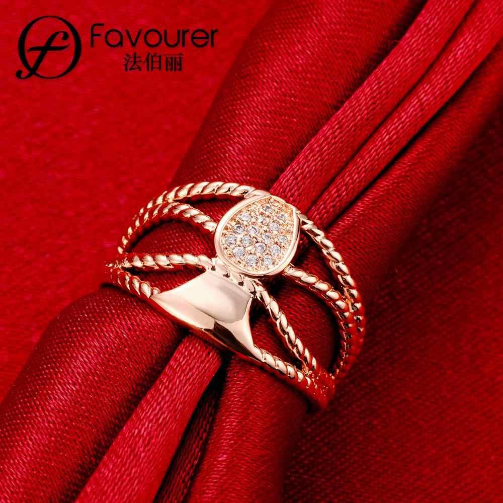 Thiết kế đa lớp Áo pha lê vòng trắng/màu hồng vàng nhẫn đối với phụ nữ Cưới Bữa Tiệc Đồ Trang Sức đính hôn rực rỡ