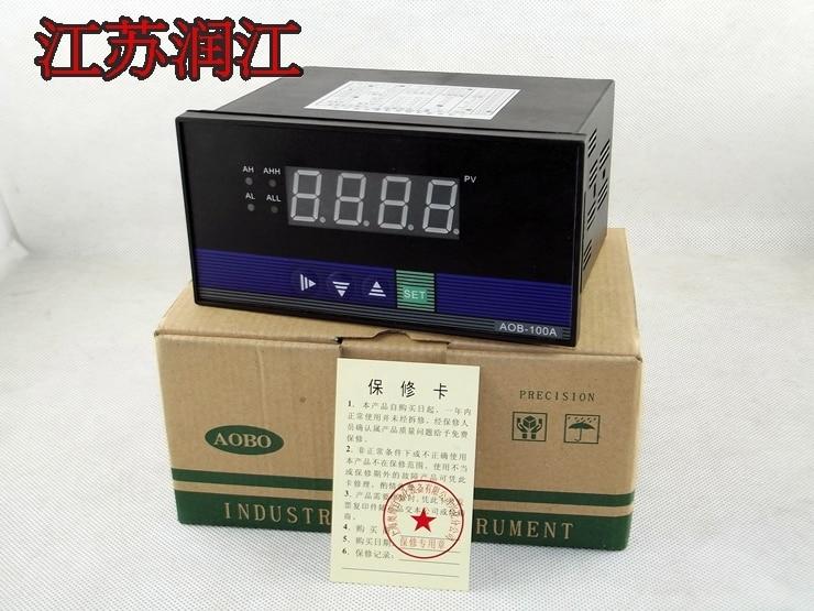 AOB-100 intelligent digital temperature control instrument / pressure display controller / current voltage signal input dmx512 digital display 24ch dmx address controller dc5v 24v each ch max 3a 8 groups rgb controller