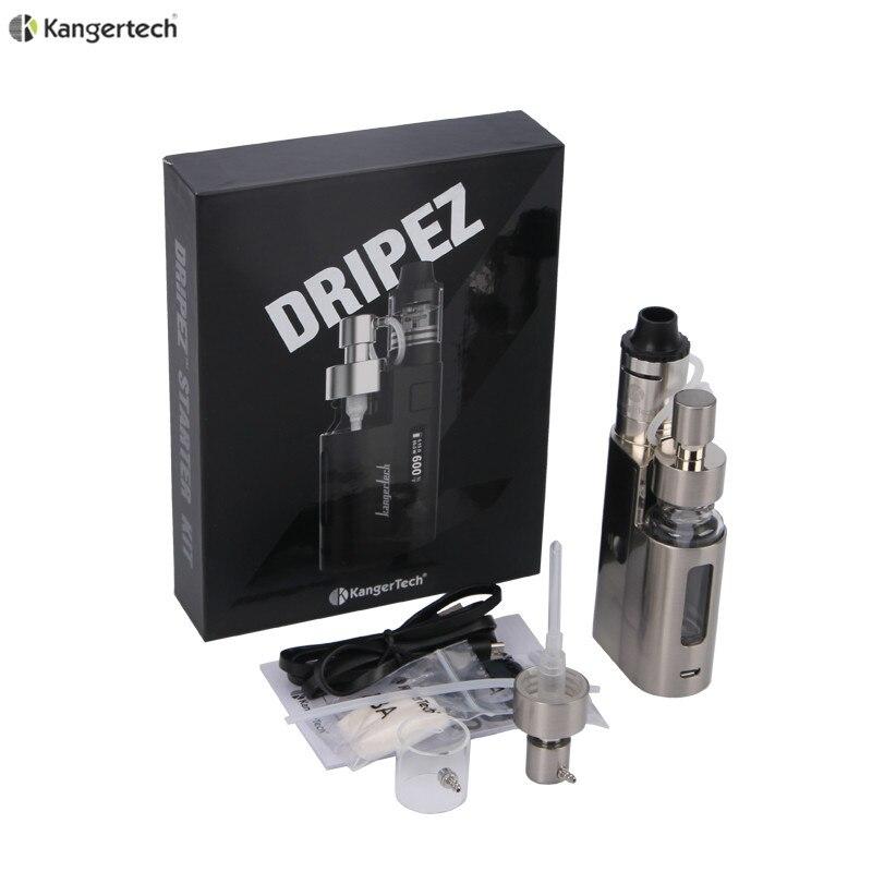 100% D'origine Kanger Goutte À Goutte EZ Starter Kit 80 W Boîte Mod Vaporisateur avec Pompe Et Push RBA 0.3Ohm Goutte À Goutte bobine 0.2Ohm DripEZ Kit