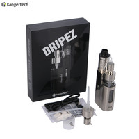 100 Original Kanger Drip EZ Starter Kit 80W Box Mod Vape With Pump And Push RBA