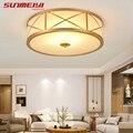 Винтажный дизайн, светодиодный потолочный светильник, Круглый, простой, lampara de techo, Современная подсветка, Светильники для гостиной, спальни,...