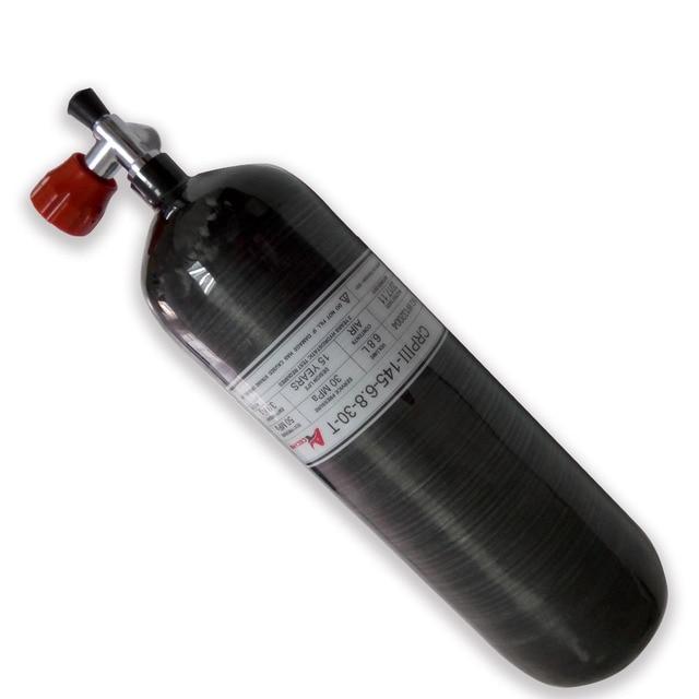 مسدس هوائي AC36811 PCP كوندور خزان سكوبا 6.8L زجاجة صغيرة للغوص 4500 psi اسطوانة الضغط العالي للصيد هدف الكربين