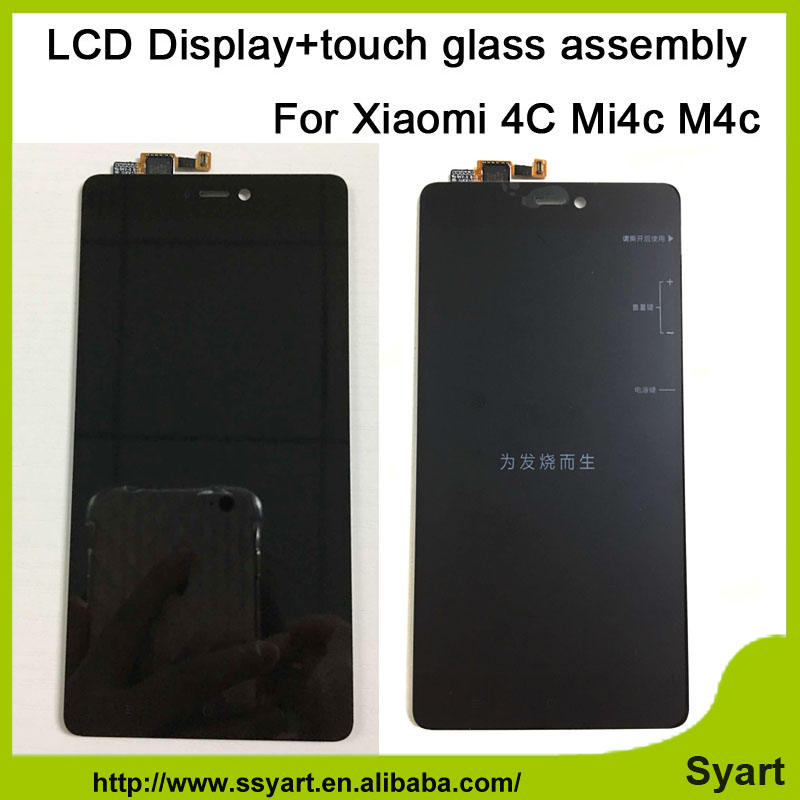 High quality 5.0inch LCD Screen Mi4C New Replacement Accessories LCD Display +Touch Screen For Xiaomi Mi4c Mi 4c Mi4c 10 4 inch lca4se01a lcd screen