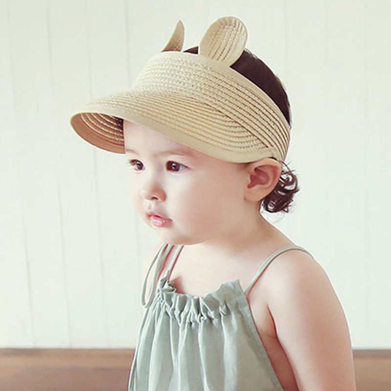 10pcs/lot 01901-tuyu-KD2 summer character ear solid children without straw sun hat boy girl cap wholesale