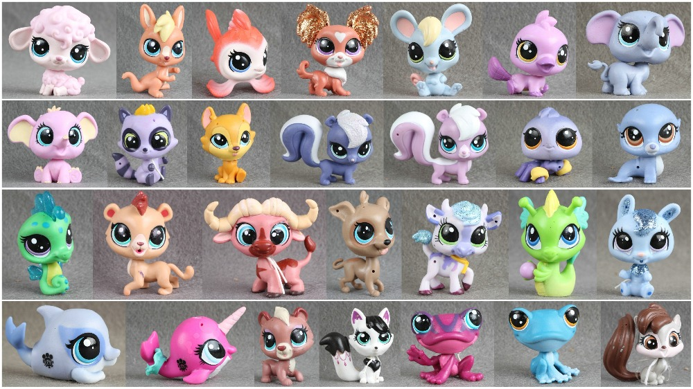 1pcs LPS Pet Collection Figure Sheep Elephant Squirrel Deer Animals Child Loose Cute Toys lps toy pet shop cute beach coconut trees and crabs action figure pvc lps toys for children birthday christmas gift