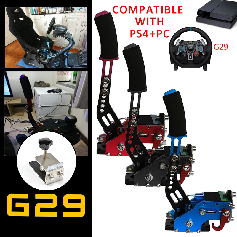 PS4 + PC USB Hand Brake+Clamp For Racing Games G295/G27/G29/G920 T300RS Logitech Brake System Handbrake Auto Replacement Parts