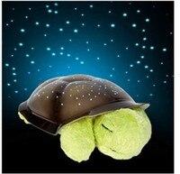 5 Renkler Ücretsiz nakliye Müzik Kaplumbağa Gece Işığı Yıldız Constellation Lambası w/renkli kutu