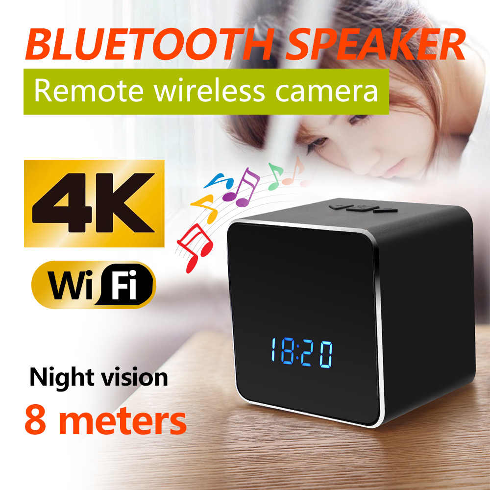 Bluetooth Speaker Micro Camera Wifi HD 1080P Vedio Recorder Wireless Stereo Speaker Cam Rotation 180 Motion Detection Camera