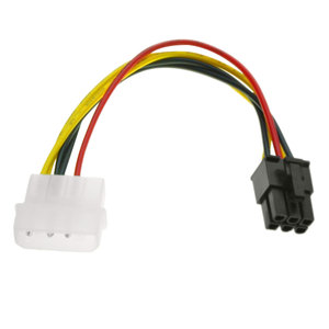 Image 3 - PVC 4 핀 몰 렉스에서 6 핀 PCI Express PCIE 비디오 카드 전원 변환기 어댑터 케이블 20cm 전원 변환기 어댑터 케이블