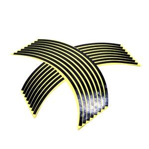 Image 3 - ملصقات ملونة للعجلة مقاس 17/18 بوصة ملصقات عاكسة للعجلة شريط حاشية لـ HODNA CB500 CB600 CB750 CB900 CB1000 CB1300