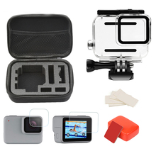Waterproof Case Accessories Set Mount Housings for GoPro Hero 7 Silver White Action Camera