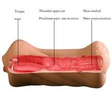 Realistic Vagina Hand Vibrator Oral Tongue Teeth