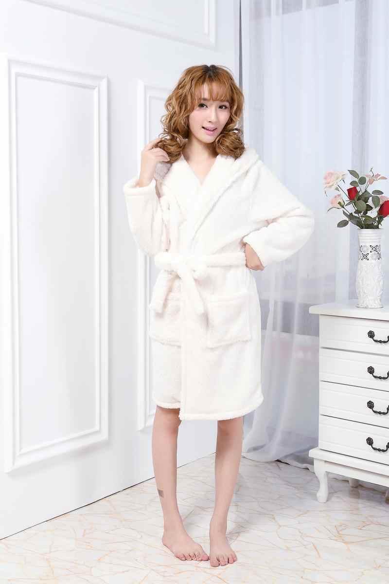 Осенне-зимняя одежда для дома с длинным рукавом балахон с капюшоном с милыми животными немного банный халат с овечками сексуальная свободная Пижама Халат кигуруми